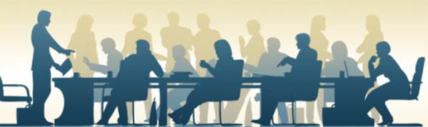 [PIC] Silhouette image of Individuals at a Board Meeting
