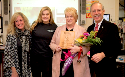 [PIC] Cosmetology Teacher & SkillsUSA Advisor Sharon Myers receives iHeartRadio TOM Award
