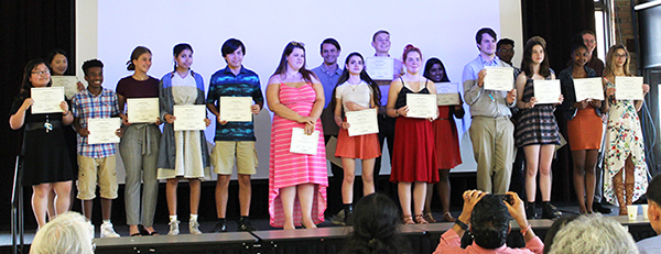 [PIC] BOCES Summer Scholar Students DIsplay Certificates