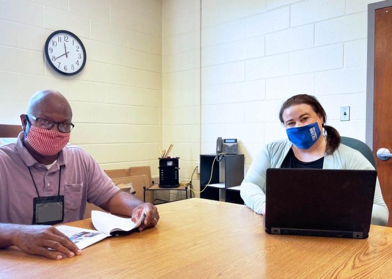 Salt Point Center Principal Melissa Murphy and Assistant Principal Duane Sharrock discuss plans for the 2021-22 school year